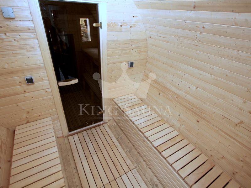 fass au ensauna 4 24 x 2 38 m 10 personen saunen badebottiche. Black Bedroom Furniture Sets. Home Design Ideas