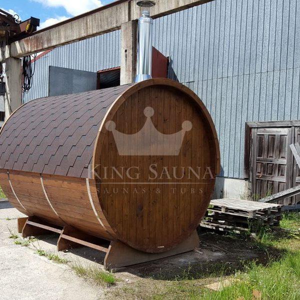 """""""Fass sauna"""" 3,24m x 2,38m mit offenem Ankleideraum"""