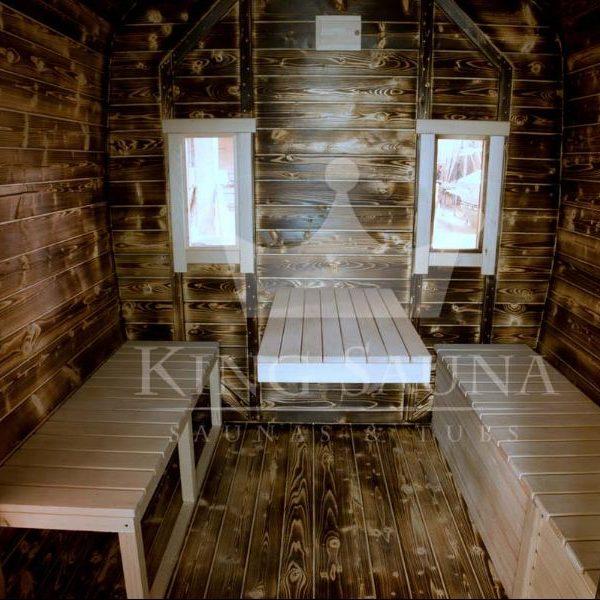 """""""QUADRATISCHE"""" sauna für sieben personen"""