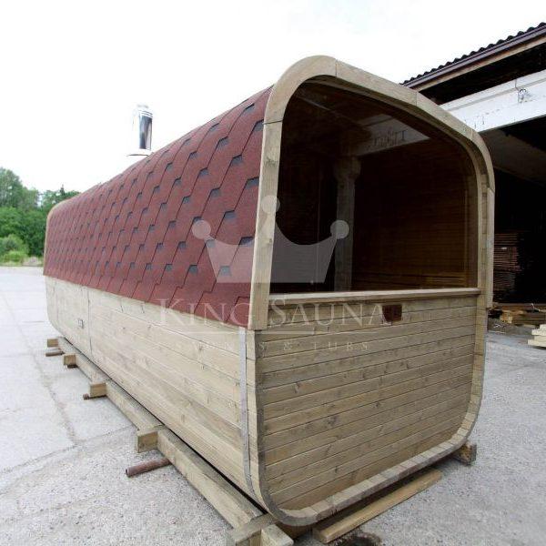 Bau dich! Quadratische Sauna!