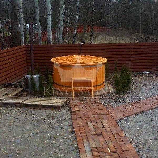 """PLASTIC"" Badebottich 2.0m mit Tannenholzdekoration"