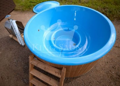 "Bau dich! ""GLASS FIBRE"" Hot-Tub mit Holzdekor"